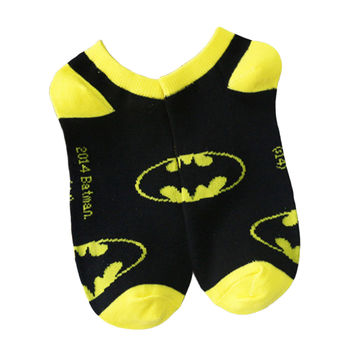 2015 summer new fashion men and women American superman batman socks shallow mouth socks lovers socks