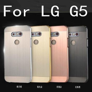 PEAPGB2 Luxury Aluminum Metal case For LG G5 Hard gold Mirror Hybrid Protective back cover for lg g5 phone housing shell