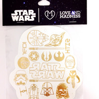 Love and Madness Star Wars Metallic Tattoos- Stormtrooper