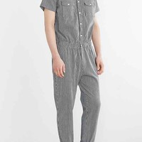 Standard Issue Striped Denim Jumpsuit- Indigo
