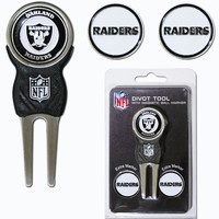 Oakland Raiders Golf Divot Tool with 3 Markers