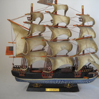Vintage Sailing Ship Model Flying Cloud Clipper 1846