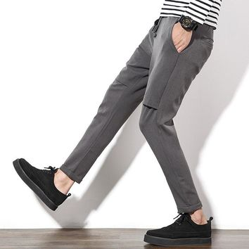 Summer Men Simple Design Cropped Pants [10833221699]