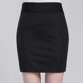 Summer Occupation  Skirt Package Hip Skirt Female Chef Skirt Women Working Clothing Skirk