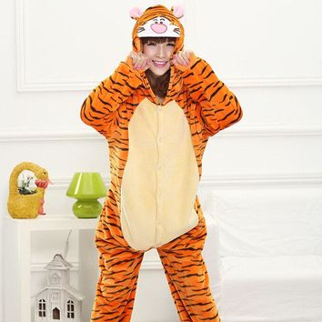 Tiger Pajamas Adult Hoodie Onesuit Sweater
