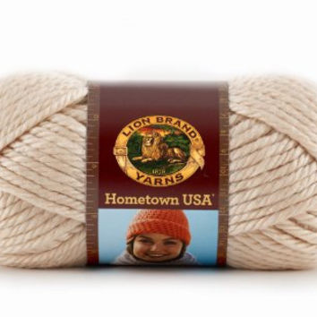 Yarn, Los Angeles Tan, Lion Brand Hometown USA Yarn, Crochet Yarn, Knitting Yarn, Acrylic Yarn, Bulky Weight