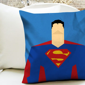 Superman Comics Minimalist Superhero Pillow Cases