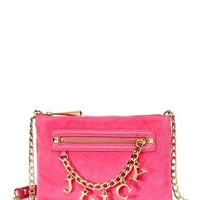 Iconic Charm Velour Flat Crossbody