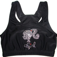 Barbie Girl Cheer Sports Bra by Justcheerbows on Etsy
