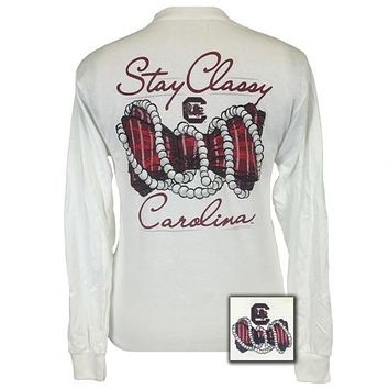 South Carolina Gamecocks Stay Classy Pearls Long Sleeves T-Shirt