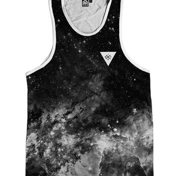 Space Minimalist Men's Tank Top - Black