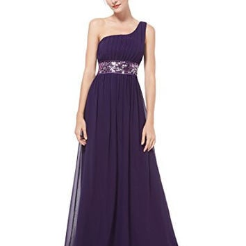 Ever Pretty One Shoulder Empire Line Sequins Padded Long Evening Gown 09770