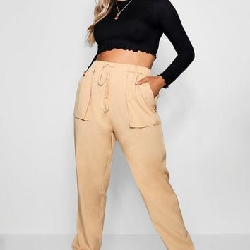Plus Woven Pocket Cargo Trouser | Boohoo