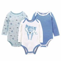 Baby Boy Long Sleeve Romper 3pcs/set