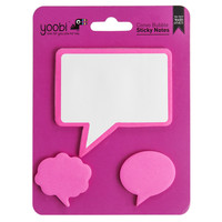 Conversation Bubble Sticky Note, 3 Pack - Pink