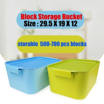 New Toy Plastic Storage Box base plate 28X20 dots fit legoings city figures bulk bricks Building Block Bucket Toys diy kid gift