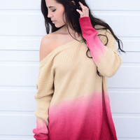 Good Intentions Sweater- Berry
