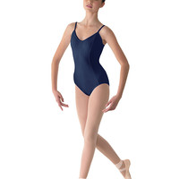 Seamed Camisole Leotard (Navy)
