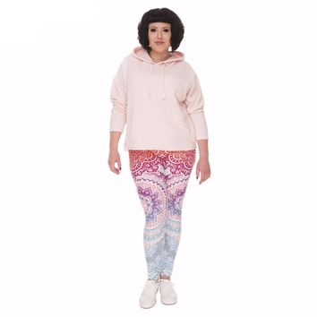Curvy Kaleidoscope  Leggings