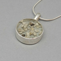 Ashes in Resin Pendant Cremation Ashes Necklace