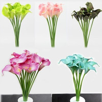 1PCS Latex Real Touch Calla Lily Flower Bouquets Bridal Wedding Home Decor = 1697437444