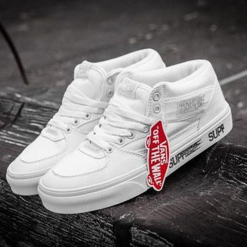 qiyif Supreme X Vans Half CAB  All White
