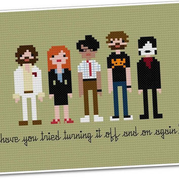 Pixel People - The IT Crowd - Cross-stitch PDF PATTERN
