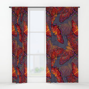 Butterfly Window Curtains by Renee Ciufo