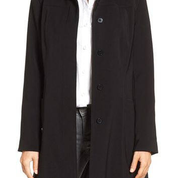 Gallery Pickstitch Nepage Walking Coat with Detachable Hood (Regular & Petite) | Nordstrom