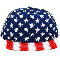 USA Stars and Stripes Snap Back Hat