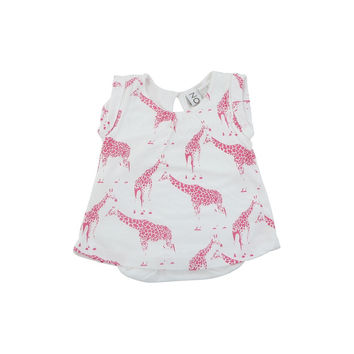 pink giraffe bamboo short dress