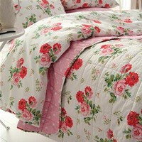 Cath Kidston - Antique Rose Bouquet White Duvet Cover