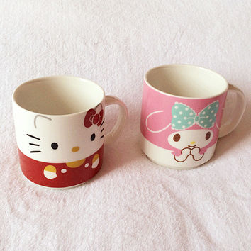 HELLO KITTY cute cartoon ceramic mug milk coffee cup procelain kitchenware