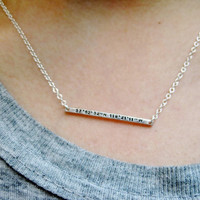 Bar Necklace - Personalized, Stamped, Sterling Bar Necklace