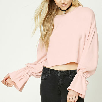 Raw-Cut Cropped Sweatshirt