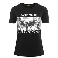 Not Cute Just Psycho T-Shirt Pastel Goth Grunge Punk