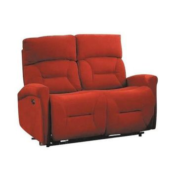 Holland Power Reclining Media Loveseat With USB | Hugo Red