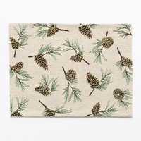 SONOMA life + style Chenille Pinecone Toss Placemat