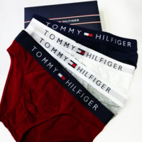 TOMMY HILFIGER Tide brand cotton men's breathable and comfortable triangle underwear four-piece