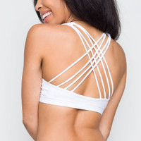 Dazzle Me Sports Bra - White