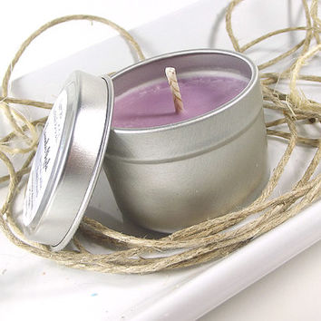 Lavender Apple scented Soy Candle Tin - Ready to Ship Soy Candle -- 2 ounce Tin