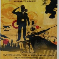 RISE AGAINST Appeal To Reason 2008 DOUBLE SIDED POSTER 22x14