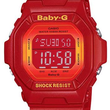Casio BG5600SA-4 Women's Baby-G World Timer Alarm Red Resin Watch