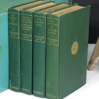4 Volumes by F. Hopkinson Smith 1911 . Set of Antique Books . Edwardian Green Covers Gilt . Nice Gift
