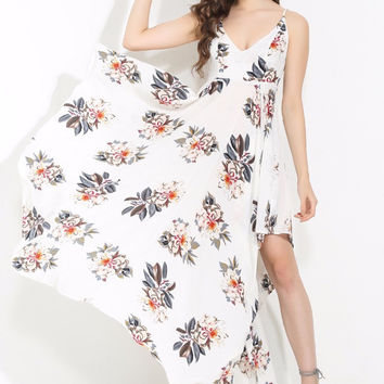 Flow With Me White Floral Dress