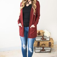 Wearing The Best Burnt Red Cardigan
