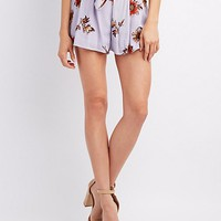 Floral Pleated Shorts