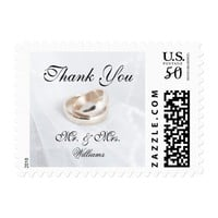 Simple Elegant Wedding Rings White Fabric Postage