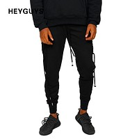 Pants Casual Sweatpants with long Ties Hip Hop high street Trousers Pants Men Joggers pencil pant high quality