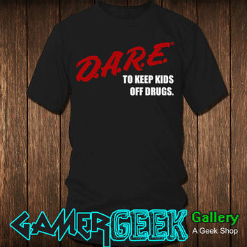 D.A.R.E. (Dare) Vintage Logo Shirt -6oz Shirt-Screen Printed